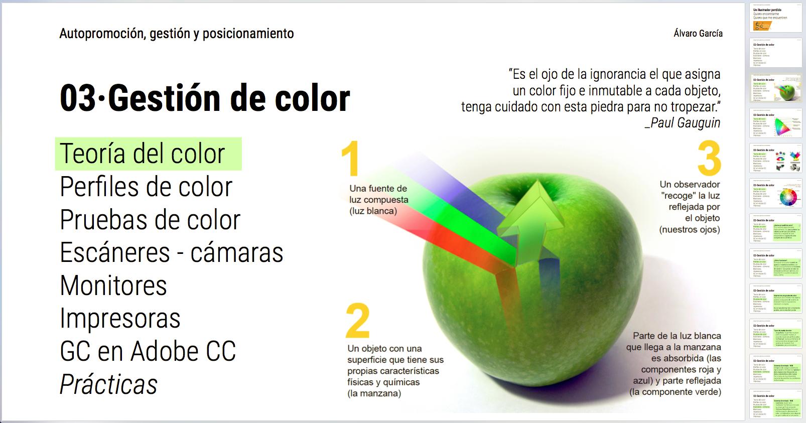 Gestión del color